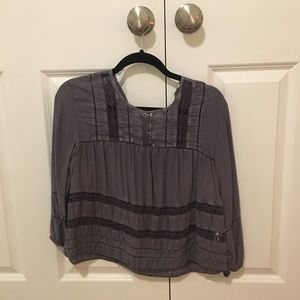 Aritzia Wilfred Faded Lavender Blouse